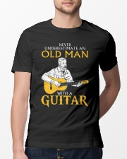 Never underestimate an old man with a guitar Classic T-Shirt lifestyle-mens-crewneck-front-13