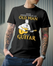 Never underestimate an old man with a guitar Classic T-Shirt lifestyle-mens-crewneck-front-6