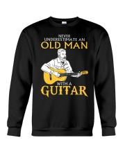 Never underestimate an old man with a guitar Crewneck Sweatshirt thumbnail