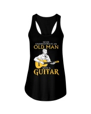 Never underestimate an old man with a guitar Ladies Flowy Tank thumbnail