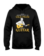 Never underestimate an old man with a guitar Hooded Sweatshirt thumbnail