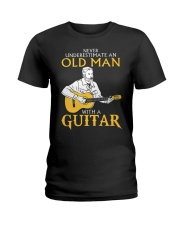 Never underestimate an old man with a guitar Ladies T-Shirt thumbnail