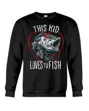 This Kid Loves To Fish Crewneck Sweatshirt thumbnail