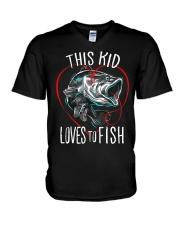 This Kid Loves To Fish V-Neck T-Shirt thumbnail