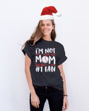 Im Not Just His Mom Im His Number 1 Fan Classic T-Shirt lifestyle-holiday-crewneck-front-1