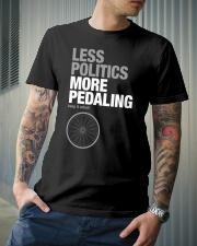 Less polictics more pedaling keep it wheel Classic T-Shirt lifestyle-mens-crewneck-front-6