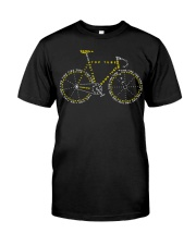 Bicycle anatomy design Classic T-Shirt front