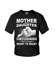 Mother and daughter always heart to heart Youth T-Shirt thumbnail