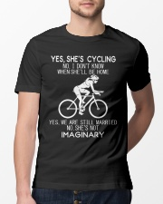 Yes She's Cycling Classic T-Shirt lifestyle-mens-crewneck-front-13