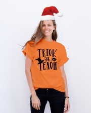 TRICK OR TEACH Classic T-Shirt lifestyle-holiday-crewneck-front-1