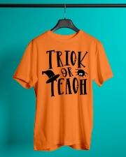 TRICK OR TEACH Classic T-Shirt lifestyle-mens-crewneck-front-3