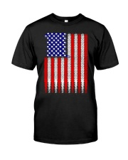 Cycling USA flag Classic T-Shirt front