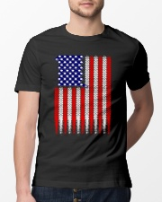 Cycling USA flag Classic T-Shirt lifestyle-mens-crewneck-front-13