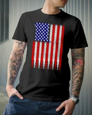 Cycling USA flag Classic T-Shirt lifestyle-mens-crewneck-front-6
