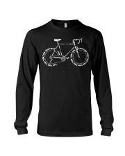 Road Bicycle Typo Design Long Sleeve Tee thumbnail