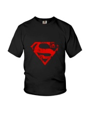 MAN OF STEEL LOGO Youth T-Shirt thumbnail