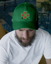 Our hearts beat for Ireland - St Patrick's Day Embroidered Hat garment-embroidery-hat-lifestyle-06
