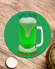 Save water drink beer  Circle Coaster aos-coaster-round-front-lifestyle-1