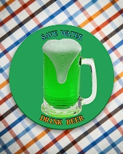 Save water drink beer  Circle Coaster aos-coaster-round-front-lifestyle-8