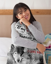 """To My Wife I Love You Small Fleece Blanket - 30"""" x 40"""" aos-coral-fleece-blanket-30x40-lifestyle-detail-front-13"""