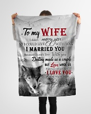 """To My Wife I Love You Small Fleece Blanket - 30"""" x 40"""" aos-coral-fleece-blanket-30x40-lifestyle-front-14"""