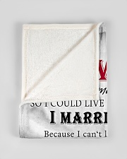 """To My Wife I Love You Small Fleece Blanket - 30"""" x 40"""" aos-coral-fleece-blanket-30x40-lifestyle-front-17"""