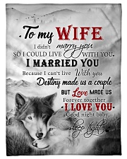 """To My Wife I Love You Small Fleece Blanket - 30"""" x 40"""" front"""