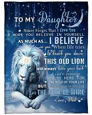 Dad To Daughter I believe in you Fleece Blanket tile