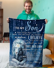 """Mon To Son I believe in you Small Fleece Blanket - 30"""" x 40"""" aos-coral-fleece-blanket-30x40-lifestyle-front-09"""