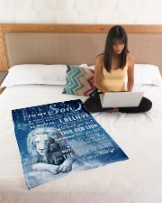 """Mon To Son I believe in you Small Fleece Blanket - 30"""" x 40"""" aos-coral-fleece-blanket-30x40-lifestyle-front-11"""