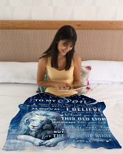 """Mon To Son I believe in you Small Fleece Blanket - 30"""" x 40"""" aos-coral-fleece-blanket-30x40-lifestyle-front-12"""