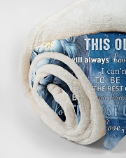 """Mon To Son I believe in you Small Fleece Blanket - 30"""" x 40"""" aos-coral-fleece-blanket-30x40-lifestyle-front-18"""