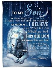 Mon To Son I believe in you Fleece Blanket tile
