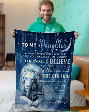 """Mom To Daughter I believe in you Small Fleece Blanket - 30"""" x 40"""" aos-coral-fleece-blanket-30x40-lifestyle-front-09"""