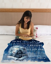 """Mom To Daughter I believe in you Small Fleece Blanket - 30"""" x 40"""" aos-coral-fleece-blanket-30x40-lifestyle-front-12"""