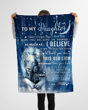 """Mom To Daughter I believe in you Small Fleece Blanket - 30"""" x 40"""" aos-coral-fleece-blanket-30x40-lifestyle-front-14"""