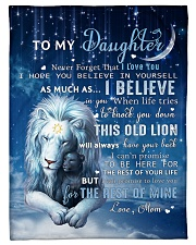 """Mom To Daughter I believe in you Small Fleece Blanket - 30"""" x 40"""" front"""