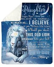 Mom To Daughter I believe in you Sherpa Fleece Blanket tile