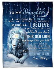 """Dad To Daughter I believe in you Small Fleece Blanket - 30"""" x 40"""" front"""