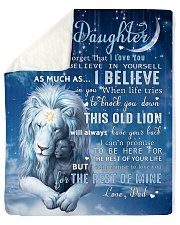 Dad To Daughter I believe in you Sherpa Fleece Blanket tile