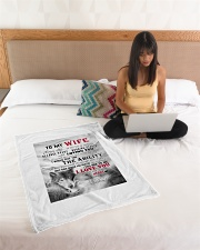 """To My Wife I Love You Small Fleece Blanket - 30"""" x 40"""" aos-coral-fleece-blanket-30x40-lifestyle-front-11"""