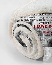 """To My Wife I Love You Small Fleece Blanket - 30"""" x 40"""" aos-coral-fleece-blanket-30x40-lifestyle-front-18"""