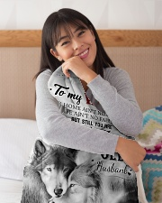 """To My Wife My Queen Forever Small Fleece Blanket - 30"""" x 40"""" aos-coral-fleece-blanket-30x40-lifestyle-detail-front-13"""