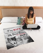 """To My Wife My Queen Forever Small Fleece Blanket - 30"""" x 40"""" aos-coral-fleece-blanket-30x40-lifestyle-front-11"""