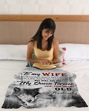 """To My Wife My Queen Forever Small Fleece Blanket - 30"""" x 40"""" aos-coral-fleece-blanket-30x40-lifestyle-front-12"""