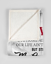 """To My Wife My Queen Forever Small Fleece Blanket - 30"""" x 40"""" aos-coral-fleece-blanket-30x40-lifestyle-front-17"""