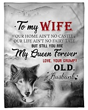 """To My Wife My Queen Forever Small Fleece Blanket - 30"""" x 40"""" front"""