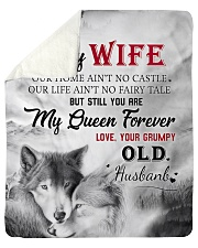 To My Wife My Queen Forever Sherpa Fleece Blanket tile