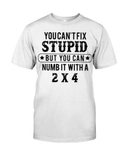 You can't fix stupid but you can numb it with a 2x Classic T-Shirt front