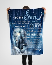 """Dad To Son I believe in you Small Fleece Blanket - 30"""" x 40"""" aos-coral-fleece-blanket-30x40-lifestyle-front-14"""
